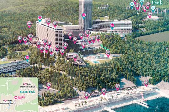 Схема территории отеля Ялта Интурист